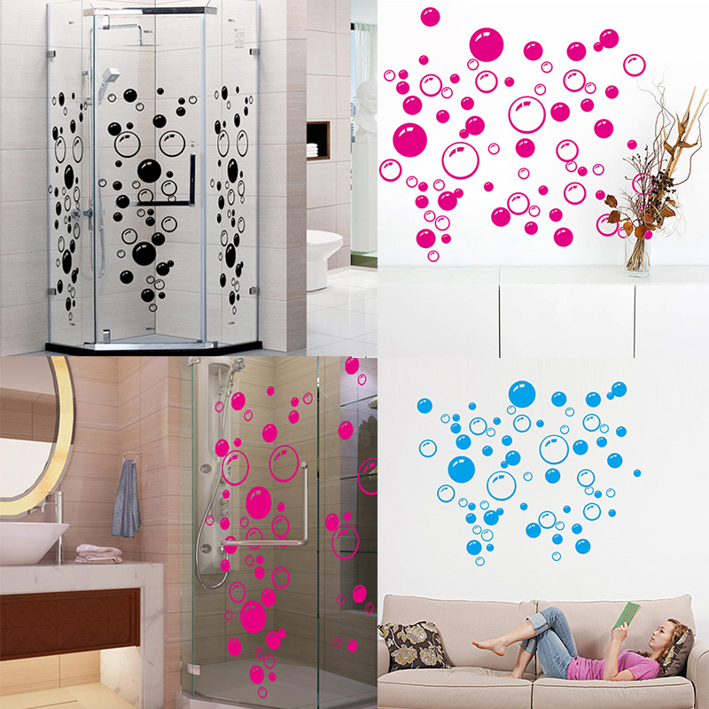 Fashion 1PC Removable New Bathroom Washroom Lovely Bubbles Wall Sticker Mural Decals Kids Room Decor