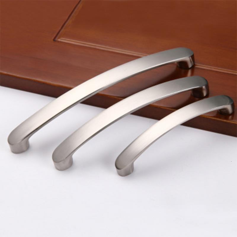 96//128//160mm Silver Cabinet Knob Cupboard Drawer Pull Handle Furniture Bar Alloy