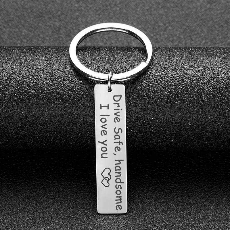 Canuomen Drive Safe Keychain Stainless Steel Birthday Gifts To Grandpa Grandma Dad Mom Brother Sister Husband