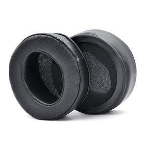 Image 3 - זווית אמיתי עור אוזן רפידות כרית earpad עבור Sony MDR Z7 Z7M2/Fostex TH600 TH900 אוזניות