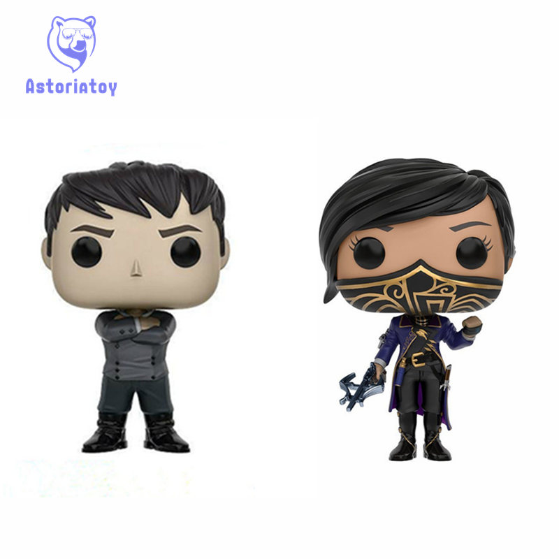 цены NEW 10cm Dishonored 2 action figure big Bobble Head Q Edition no box for Car Decoration