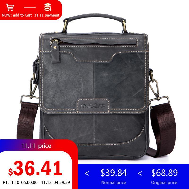 Ograff сумка мужская мужская сумка сумка мужская через плечо Планшеты конструктор сумка мужская натуральная кожа портфель дорожная сумка муж...