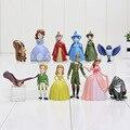 12 pçs/lote 3-5 cm Sofia Princesa PVC figura Brinquedos Figuras de Ação toy boneca sophia a primeira Princesas