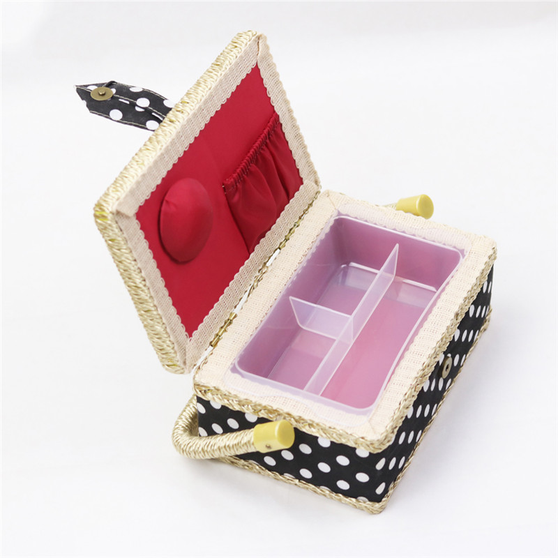 Handmade Cotton Fabric Storage Sewing Basket Sewing Thread Scissors Tools Accessory Craft Tools Storage Box For Women Wife Gift  (5)