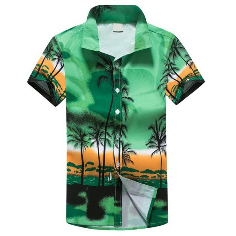 6dae5bd4bb55 WENYUJH Men Hawaii Shirt New Summer Beach Leisure Fashion Floral Print  Tropical Seaside Hawaiian Shirts 2018