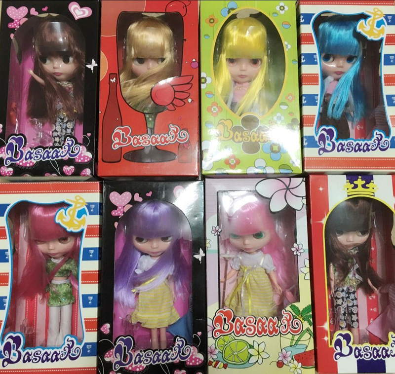 Free Shipping Top discount Basaak plastic doll with box DIY icy Blyth Doll Cheapest limited gift special price cheap offer toy free shipping top discount 4 colors big eyes diy nude blyth doll item no 7 doll limited gift special price cheap offer toy