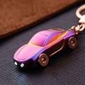 Car Keychain - MILESI Gift Men's Metal Brand LED Key Light Keychain Key Holder Zinc Alloy Pendant Couple Key Chain 17385