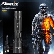 AloneFire TK700 L2 usb rechargeable Search and Police rescue LED Flashlight Torch Super Bright for Emergency and Self Defense