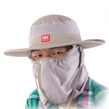 HW2016 NEW arrival  New Fishing Hiking Summer Hat Cap With Long Neck Flap Four Colors Available