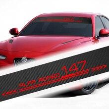 Автомобильный Стайлинг Передняя наклейка на ветровое стекло наклейка для alfa romeo 159 147 156 giulietta 147 159 mito Giulia Stelvio Spider