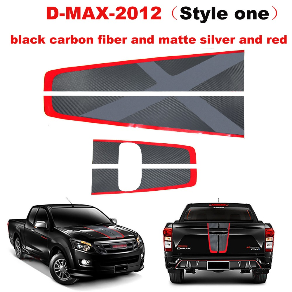Car stickers hood and back door handle insert rear door graphic Vinyl sticker for isuzu dmax