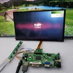 10.1 inch 1366*768 IPS Touchscreen LCD Monitor Game Display AV2 Omkeren prioriteit Control Board Module Kits voor raspberry Pi 3