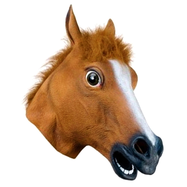 funny full face halloween horse mask cos mask horse head set christamas easter part masks cosplay