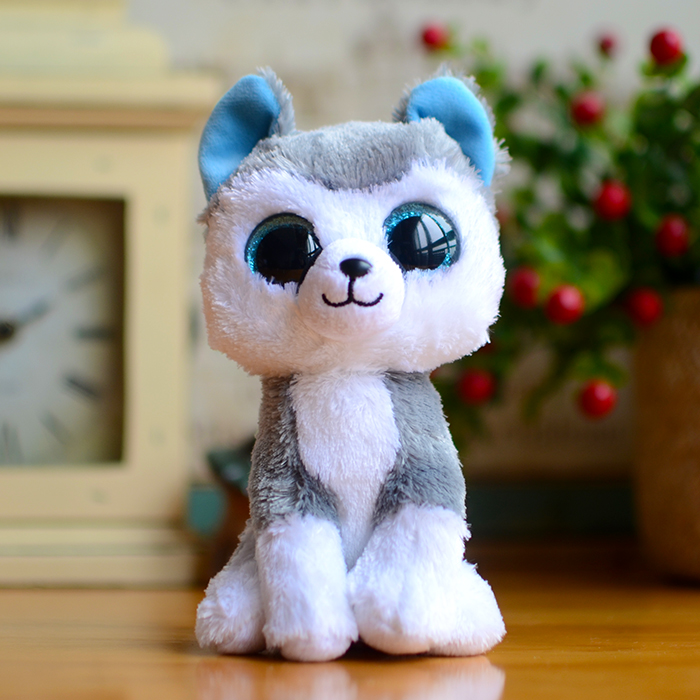 Ty Beanie Boos Kids Plush Toys Big Eyes Slush Dog Christmas Gifts Lovely Children's Kawaii Husky Cute Soft Stuffed Animals Dolls a3900 lcd display touch screen panel with frame digitizer accessories for lenovo a3900 smartphone free shipping track number