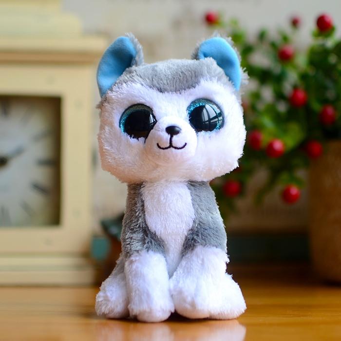 Ty Beanie Boos Kids Plush Toys Big Eyes Slush Dog Christmas Gifts Lovely Children's Kawaii Husky Cute Soft Stuffed Animals Dolls quelle my style 1004002