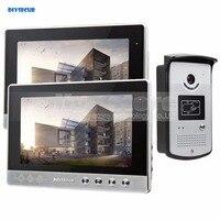 Diysecur 10 дюймов видео телефон двери Дверные звонки безопасности дома, домофон Системы RFID Камера светодиодный Цвет Ночное видение 1 Камера 2 Мо