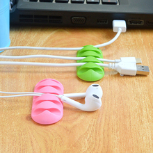 Cable clip Winder Earphone Organizer Wire Storage Silicon Charger Holder Clips for MP3 MP4