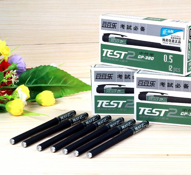 4pcs Quality Gp 380 Business Gel Pen For Test Writing Elegant Office Papeleria Stationery