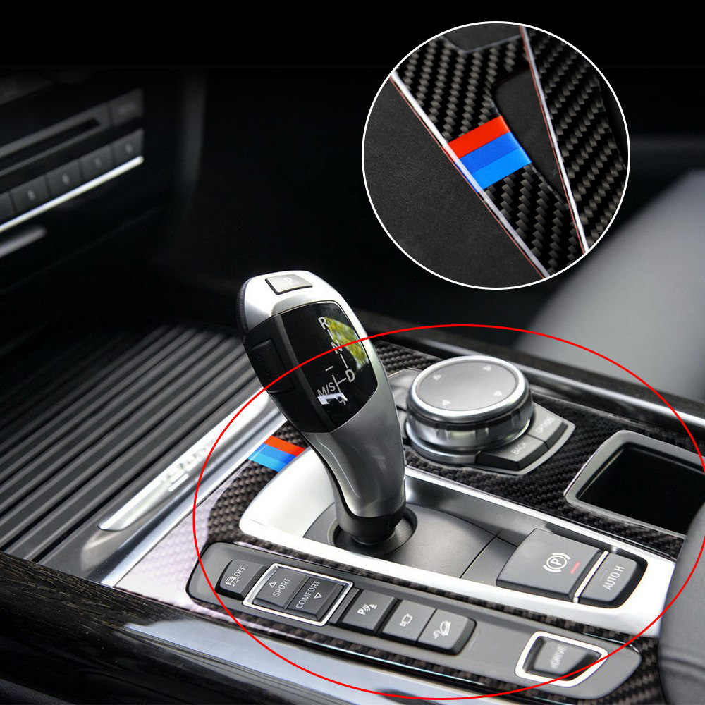 Углеродное волокно Авто Шестерня панель наклейка для BMW X5 X6 F15 F16 2014 2017