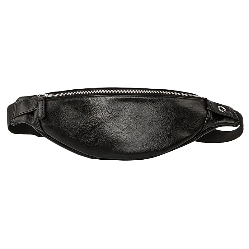Luxury Leather Fanny Pack Men Waist Bag Fashion Adjustable Belt Bag Male Heuptas Bum Banana Bag Banana Sac