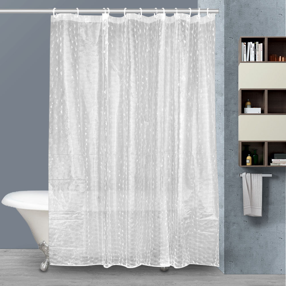 Shower Curtain Eco Friendly Thick Clear Liner EVA Plastic Mildew Proof 3D  Water Cube Bathroom Curtains Hogard In Shower Curtains From Home U0026 Garden  On ...