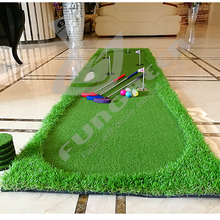 FUNGREEN 5 Holes Indoor Golf Putting Green 75x300cm Indoor O
