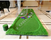 FUNGREEN Indoor 5 Holes Golf Putting Green 75x300cm Indoor Outdoor Training Putter Mat Practice Putting Green For Home Use