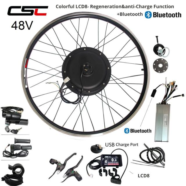 e BIKE 48V 1000W 1500W Electric Bicycle Conversion Kit 36V 350W 500W 20 24 26 28 29 inch 700C Front Rear Bluetooth Motor Wheel