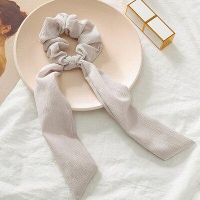Модный летний шарф «конский хвост», эластичная лента для волос для женщин, бантики для волос, резинки для волос, резинки для волос с цветочным принтом, ленты для волос - Цвет: 04