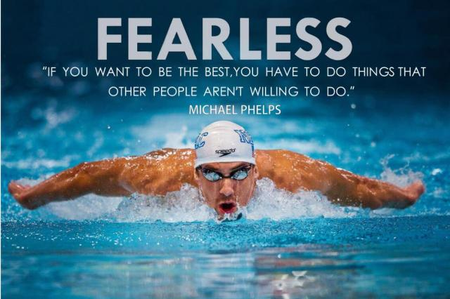 Michael Phelps Motivational Quotes Sports Art Wall Frame Posters Print Silk Fabric Home