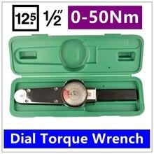 MXITA Dial llave de par de Alta precisión herramientas de mano llave de torsión puntero 1/2 0-50Nm
