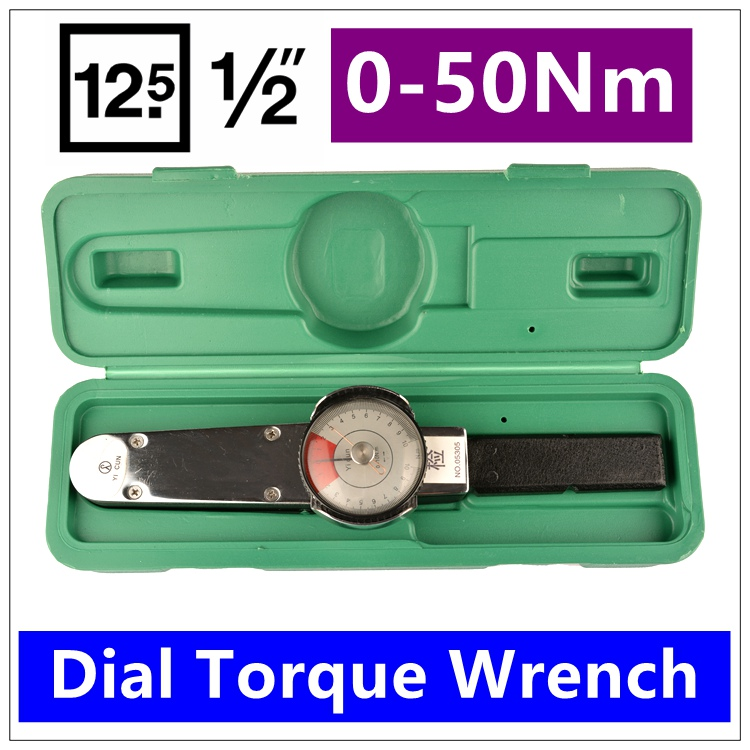 MXITA Dial Torque Spanner High-precision Pointer Torque Wrench 1/2 0-50Nm Hand Tools