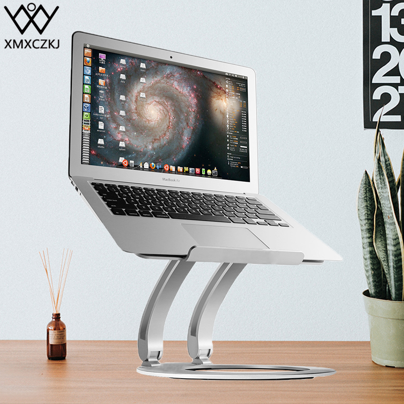 XMXCZKJ Adjustable Laptop Tablet Aluminum Alloy Portable Folding Desk Foldable Stand Lapdesk Support For Office Notebook Holder