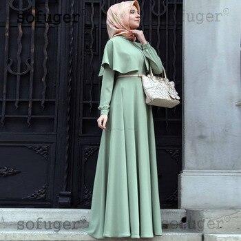 Green Sleeves Long Tiered Pleat Middle East Muslim Evening Dress Robe De Soiree Vestidos De Fiesta De Noche Party Dresses фото
