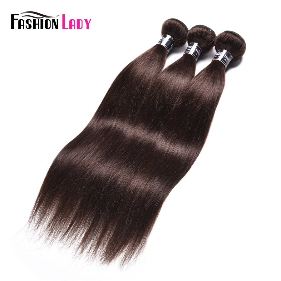 Fashion Lady Pre-colored Malaysian Straight Hair Bundles Dark Brown Color #2 Human Hair Extension 1/3/4 Bundle Per Pack Non-remy