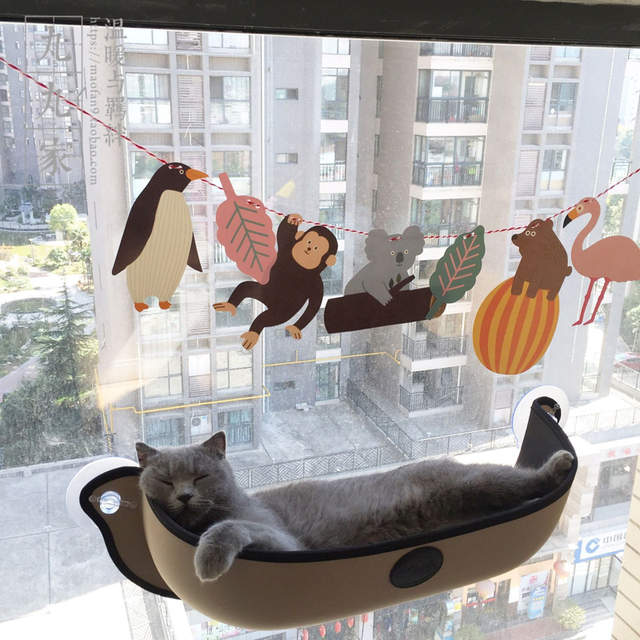Placeholder Hot Sale Cat Hammock Bed Mount Window Pod Lounger Suction Cups  Warm Bed For Pet Cat
