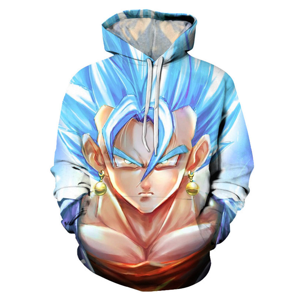Anime 3D Hooded Sweatshirt Men Dragon Ball Z Super Saiyan Printed Mens Hoodies And Sweatshirts Hip Hop Style Casual Sweat Homme