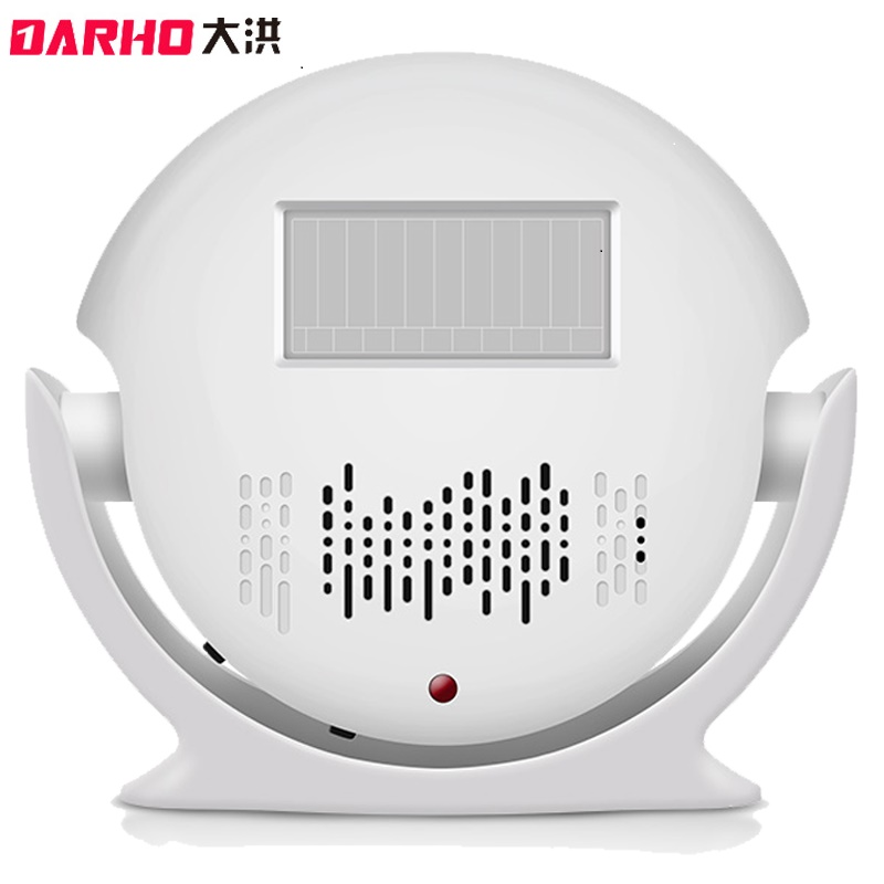 DARHO Wireless Motion Sensor Doorbell Automatic Door Bell MP3 Audio Player Welcome PIR Detector Alarm for Shop Store Visitor talking pir motion sensor speaker welcome alarm sound player with sd card slot halloween christmas sound effect for store shop