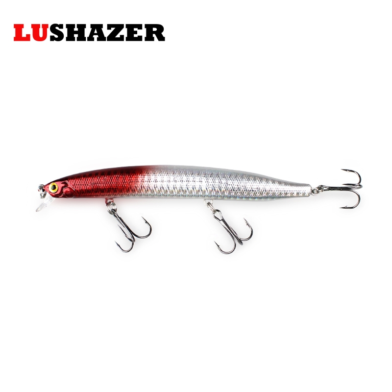 LUSHAZER Minnow fishing lure 19g 140mm hard bait carp fishing isca artificial bait boat cheap lures China fish supplies baits lushazer fishing lure minnow bait 18g hard lures carp fishing iscas artificiais 2016 wobbler crankbait cheap sea fishing tackle