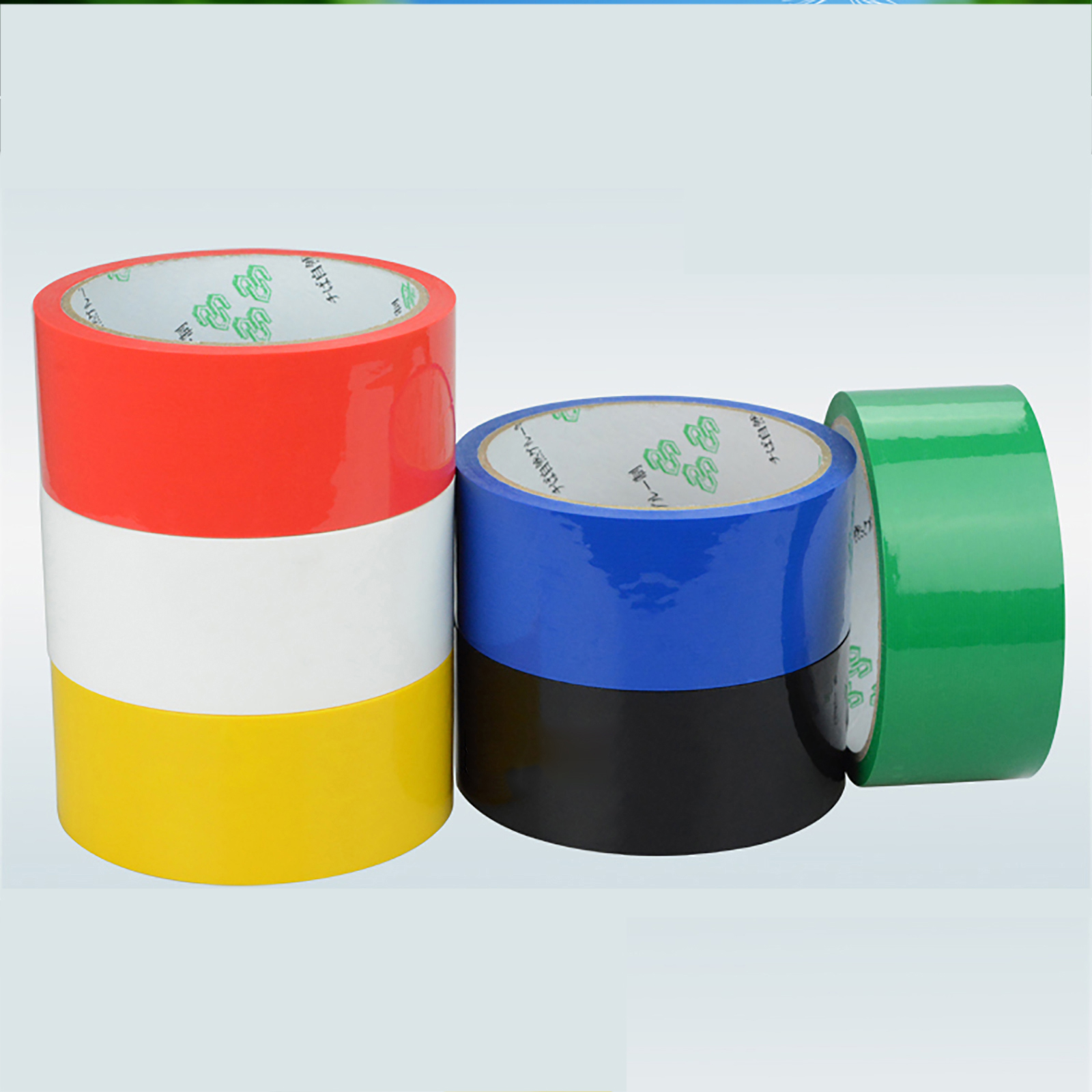 40M/Roll Sealing Color Tape Packaging Adhesive Tape Width 15-60mm Thick 0.05mm Black Red Yellow Blue Green White