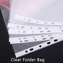 Новинка 100 шт А4 практичные офисные принадлежности пластиковые перфорированные карманные папки 23*21 см 11 отверстий вкладыш для документов лист протектор