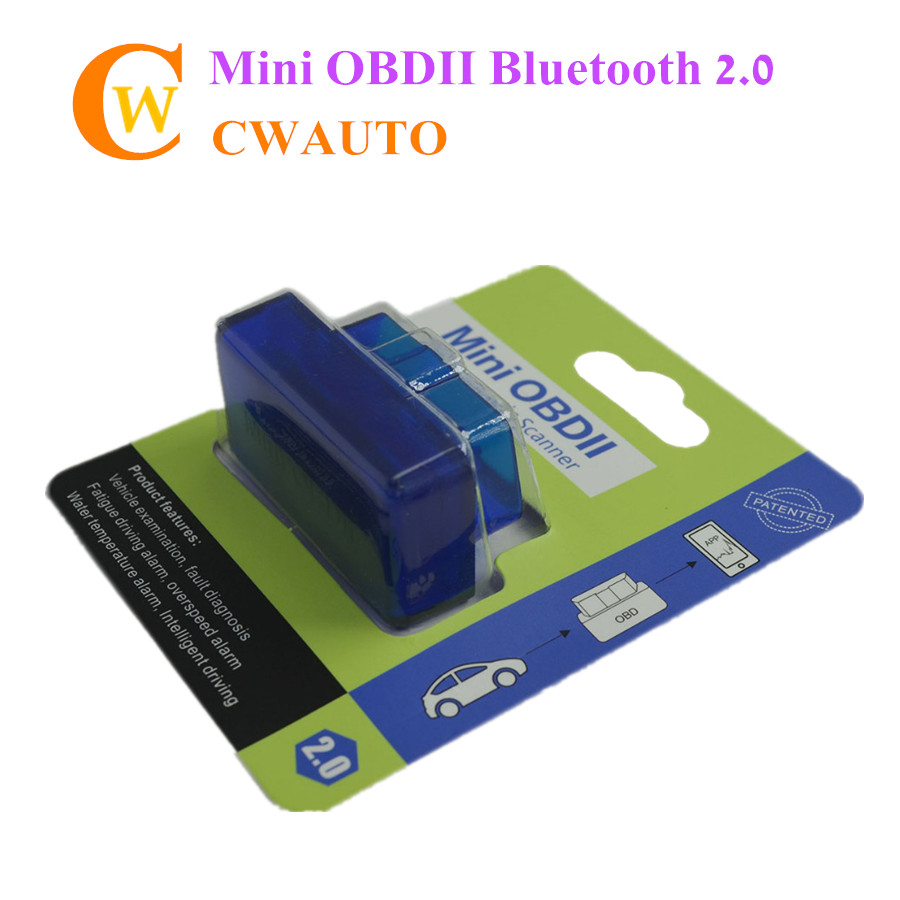 OBD2 Mini ELM 327 Bluetooth 4.0 Scanner Elm327 ii Code Reader Scan Tool Support OIS(China)