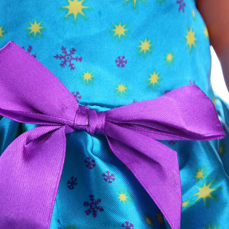 LUCKDOLL azul púrpura arco vestido ajuste 18 pulgadas americano 43cm muñeca bebé accesorios ropa, niñas juguetes, generación, regalo de cumpleaños