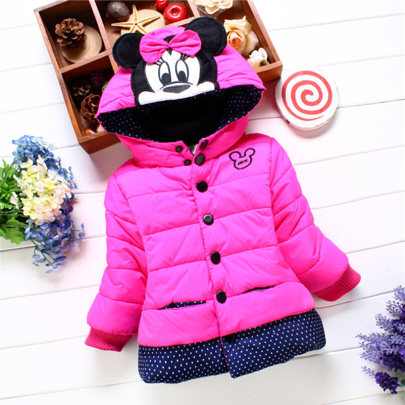 2016 4-8 yrs Winter Girls coat new Children's Coat Cute Warm Children Cotton thick Cotton-Padded Clothes