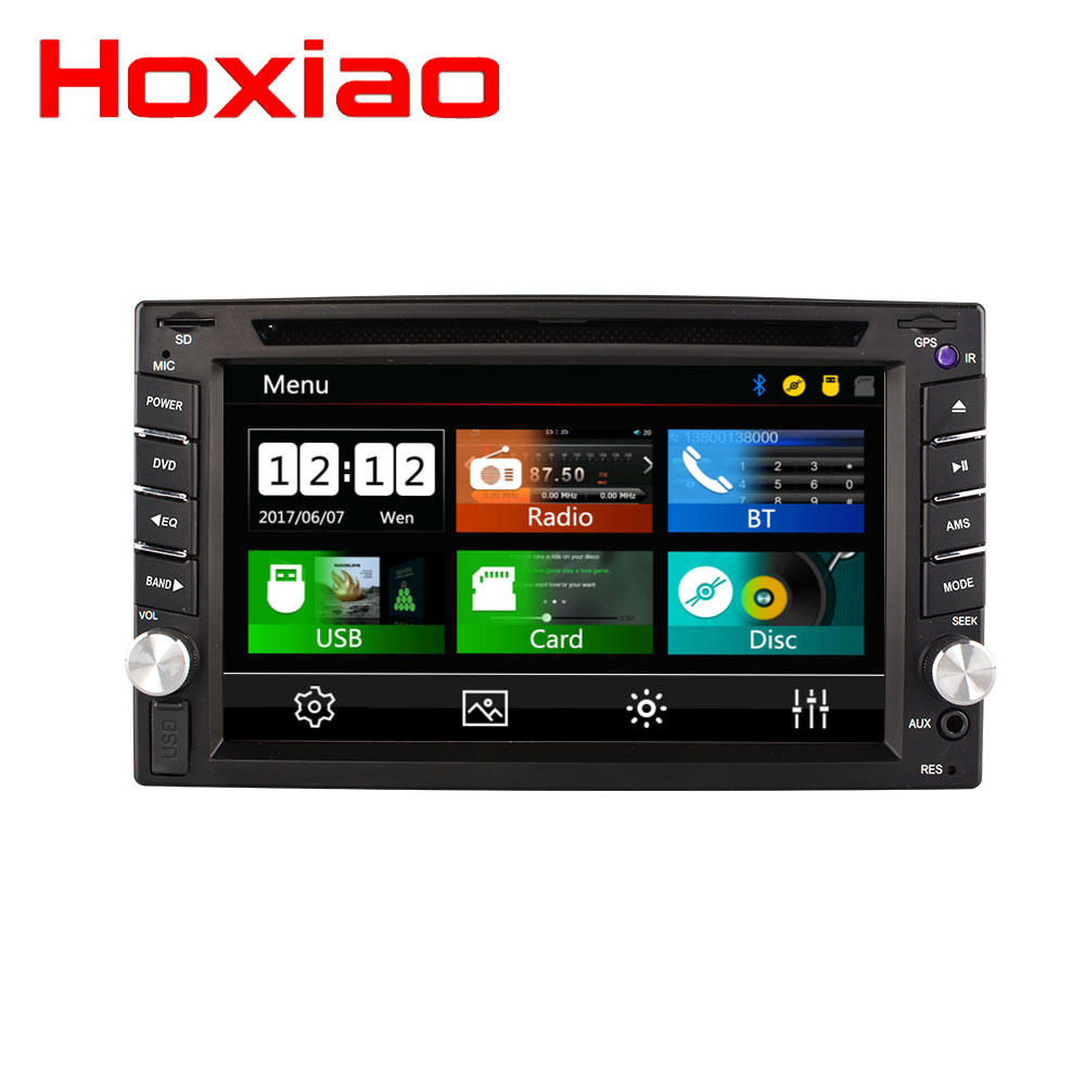 Hot 2 Din Car dvd gps player HD Support reversing rear view Bluetooth USB SD CD radio 2DIN For Nissan Volkswagen Peugeot Toyota-in Car Multimedia Player from Automobiles & Motorcycles    1
