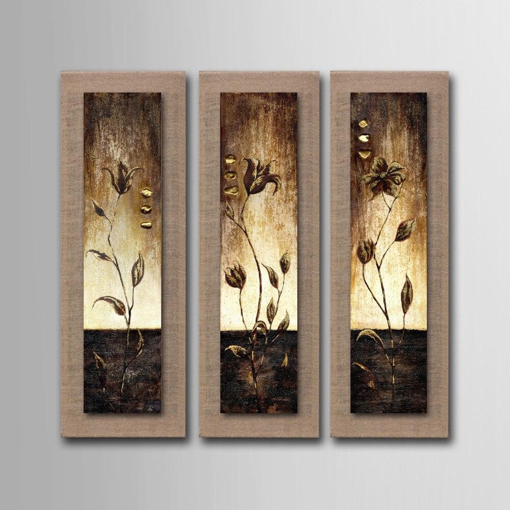 Без рамки картина маслом на льняной абстрактной цветочной стене искусство для домашнего украшения попугай художественное оформление карт...