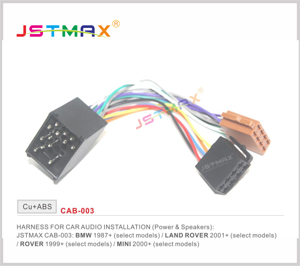 E30 Wiring Harness Adapter : Jstmax iso radio adapter for bmw compact e
