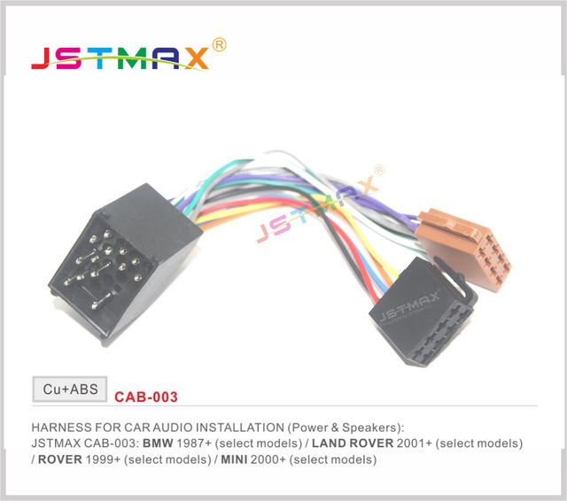 JSTMAX ISO Radio Adapter for BMW Compact E30 E36 E46 E34 E39 Wire
