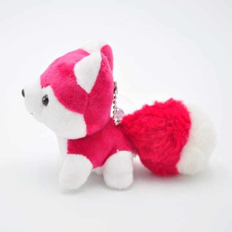 Moda Cão Ronco De Pelúcia Bonecas Chaveiro Anel Mulher Bolsa Encantos Chaveiro Faux Rex Rabbit Fur Pompom Chaveiro de Carro de Brinquedo partido Bugiganga