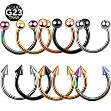 1 шт. G23 титановые пирсинг для ушей пирсинг для носа спиральные пирсинг Лабрет пирсинг носовой перегородки для носа губы брови пирсинг ушей CBR ювелирные изделия для тела
